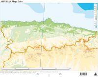 Aadir a la Cesta Paq50 mapas asturias fisico mudos  Imosver