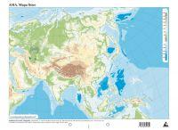 Mapa Fisico Mudo   EDICIONS DO CUMIO  Imosver
