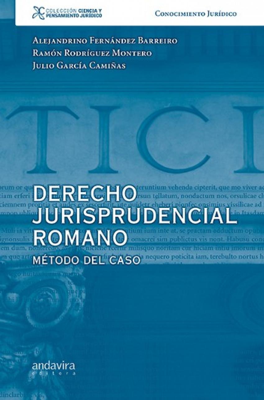 Derecho jurisprudencial romano:metodo del caso