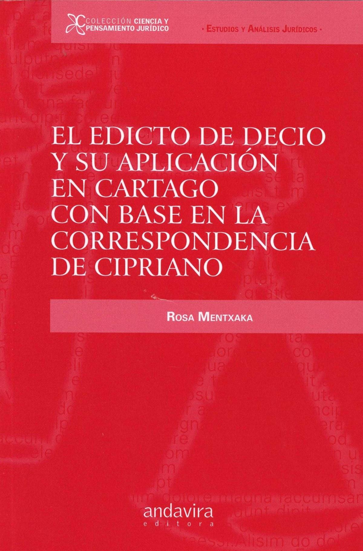 El Editio de Decio y su aplicaci¢n en Cartago con base en la correspondencia de Cipriano