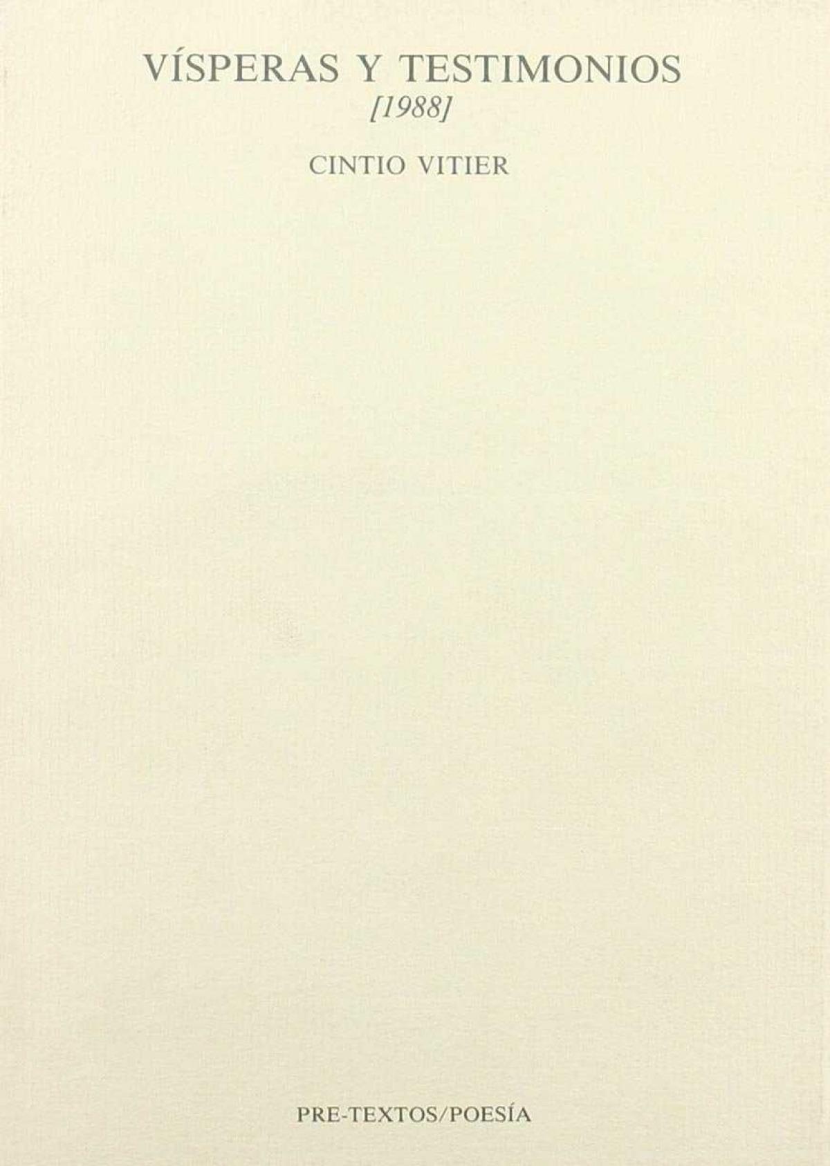 Visperas y testimonios (1988)