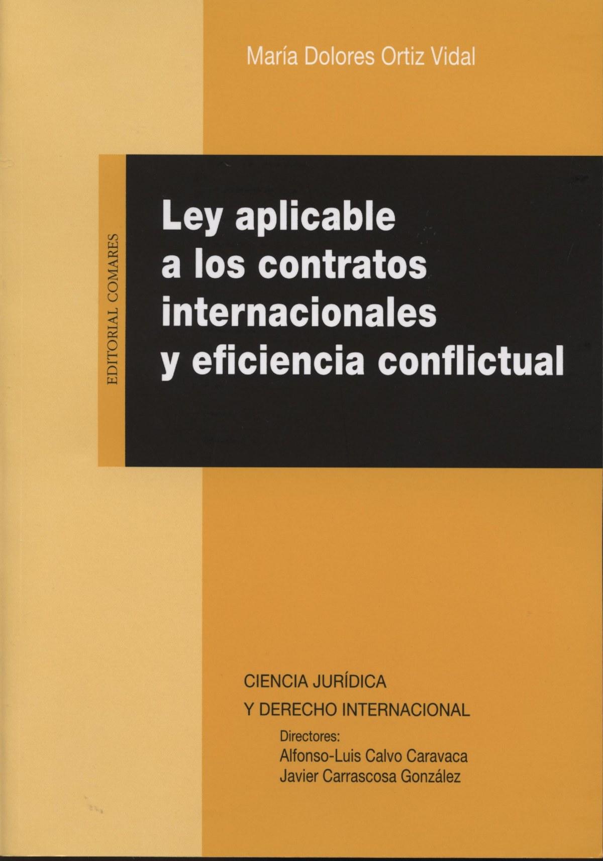 Ley aplicable contratos internacionales eficiencia conflictual