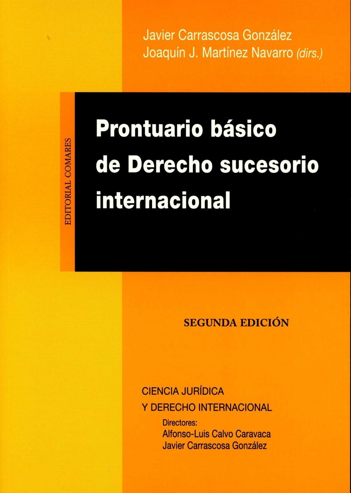 Prontuario bsico derecho sucesorio internacional