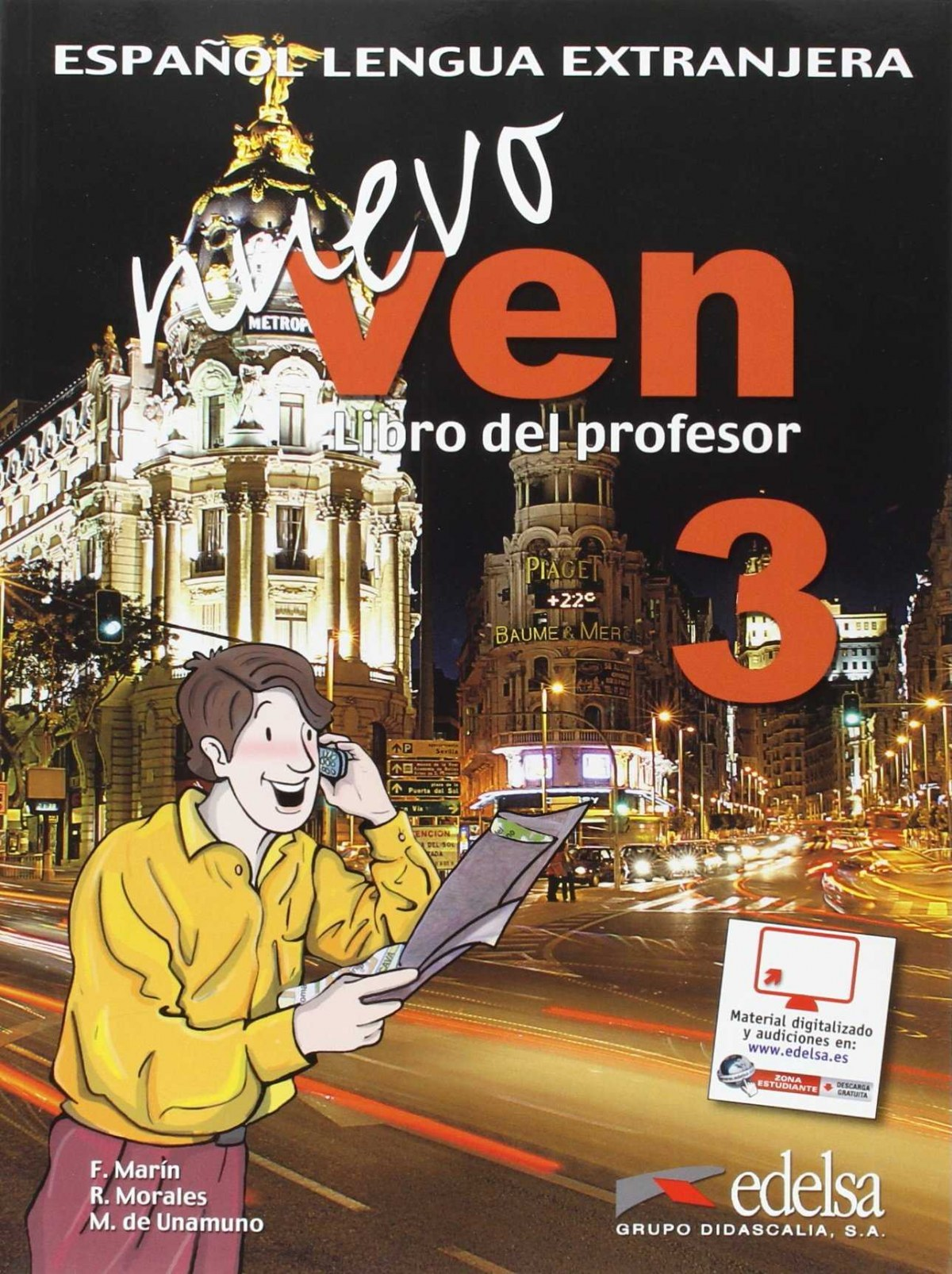 NUEVO VEN 3.PROFESOR (+CD)(ESPAÑOL EXTRANJEROS)