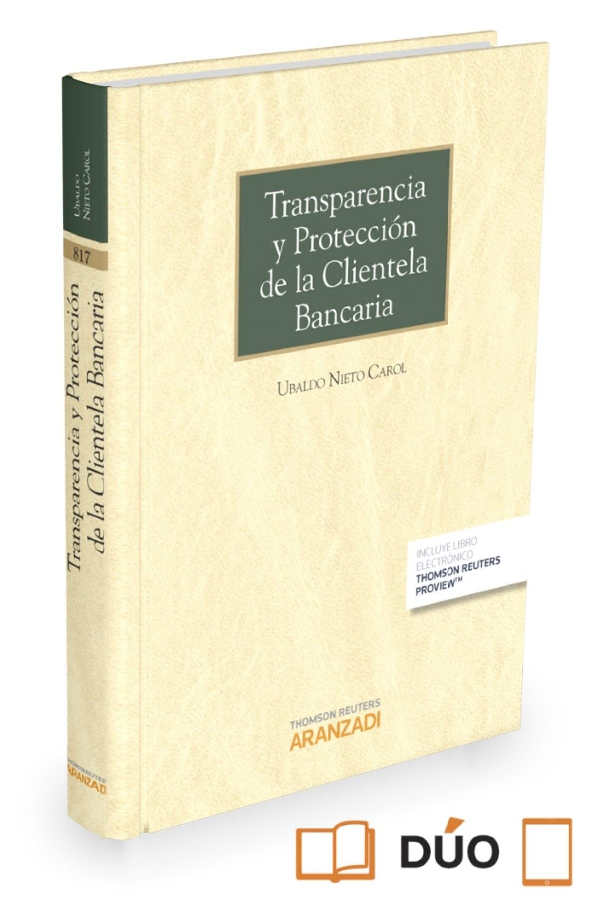 Transparencia y protección de la clientela bancaria