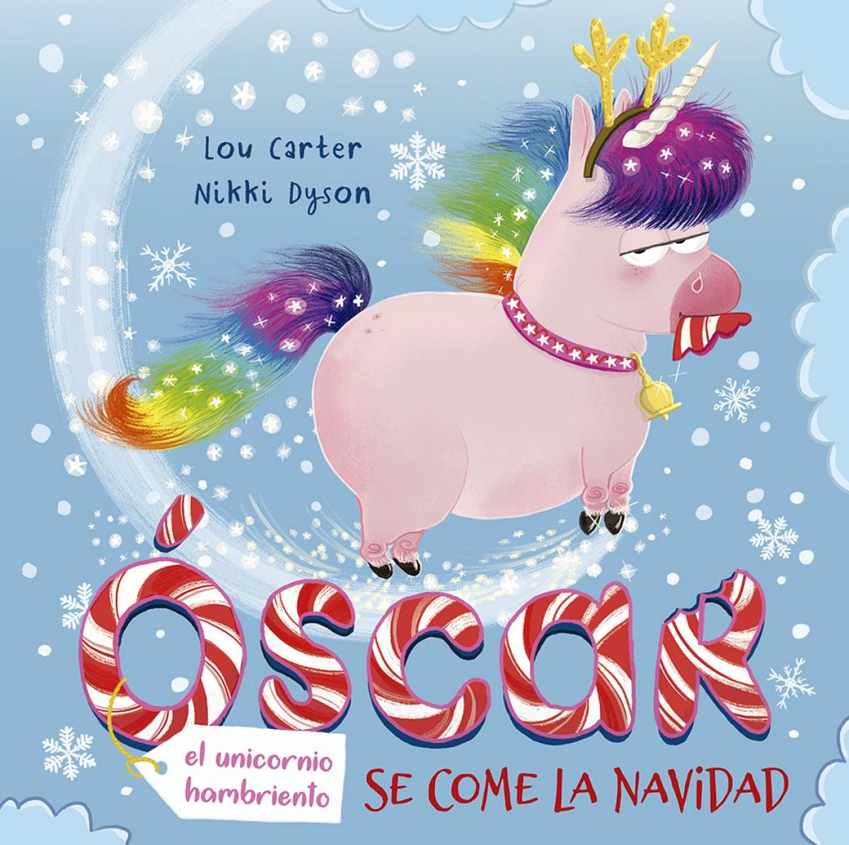 Oscar, el unicornio hambriento se come la Navidad
