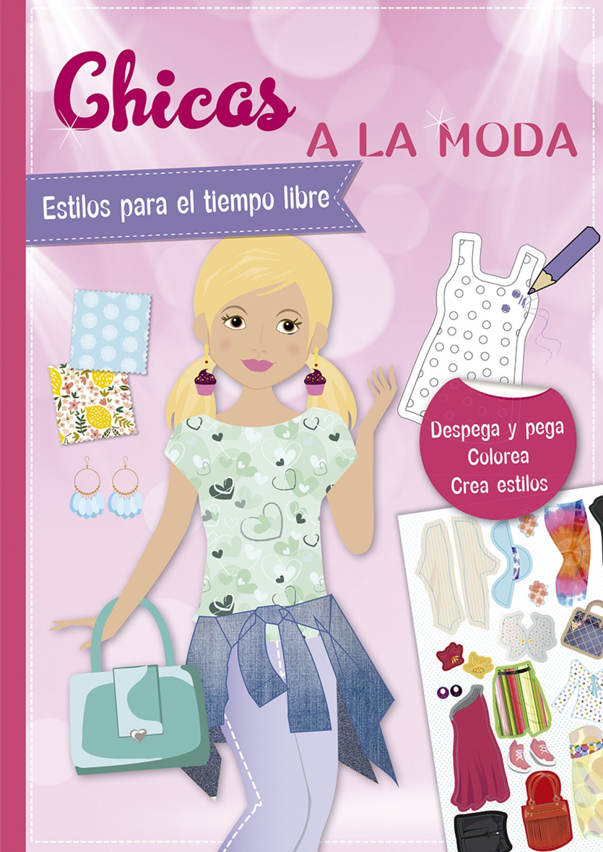Pegatinas - Chicas a la moda. Estilos para el tiempo libre