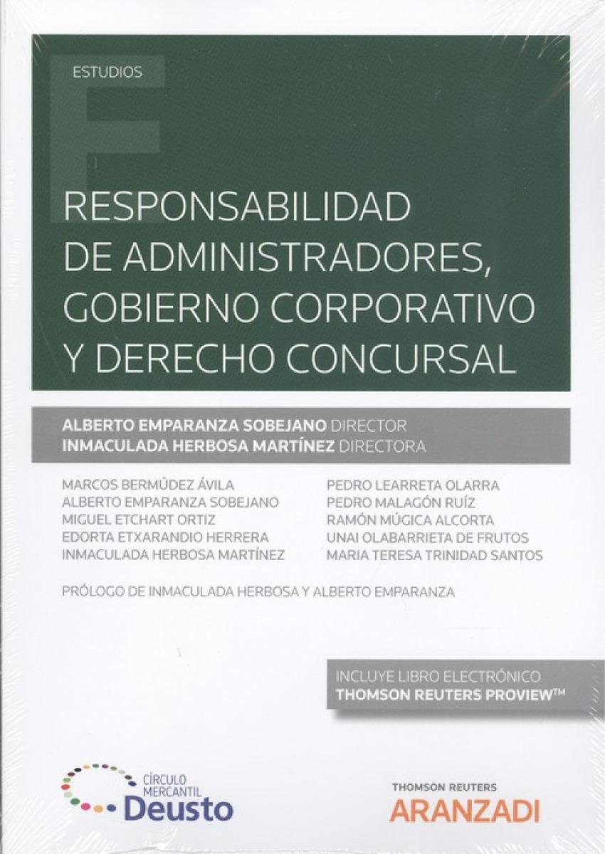 RESPONSABILIDAD DE ADMINISTRADORES, GOBIERNO CORPORATIVO Y DERECHO CONCURSAL