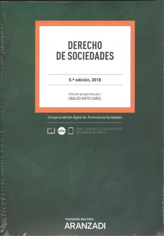 DERECHO DE SOCIEDADES 2018 (DÚO)