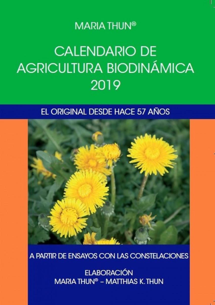 CALENDARIO DE AGRICULTURA BIODINÁMICA 2019