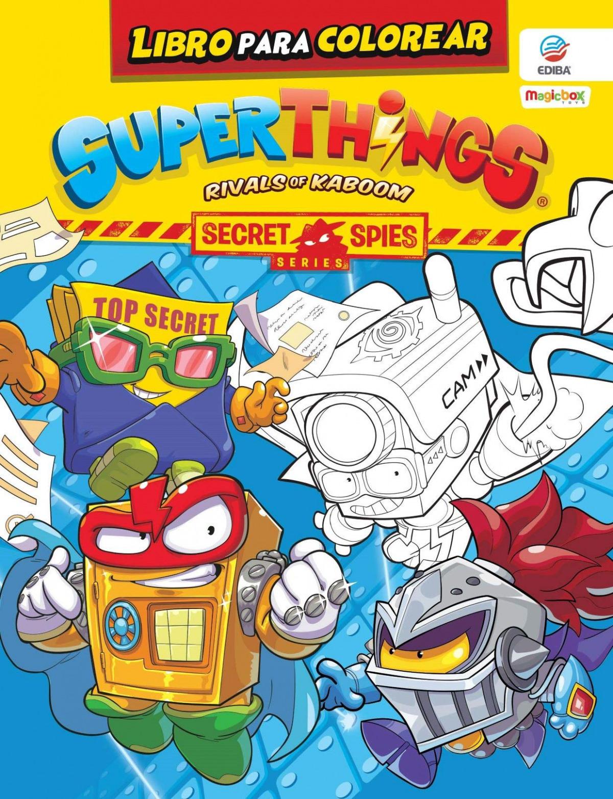 Libro para colorear Superthings Secret Spies Series - España