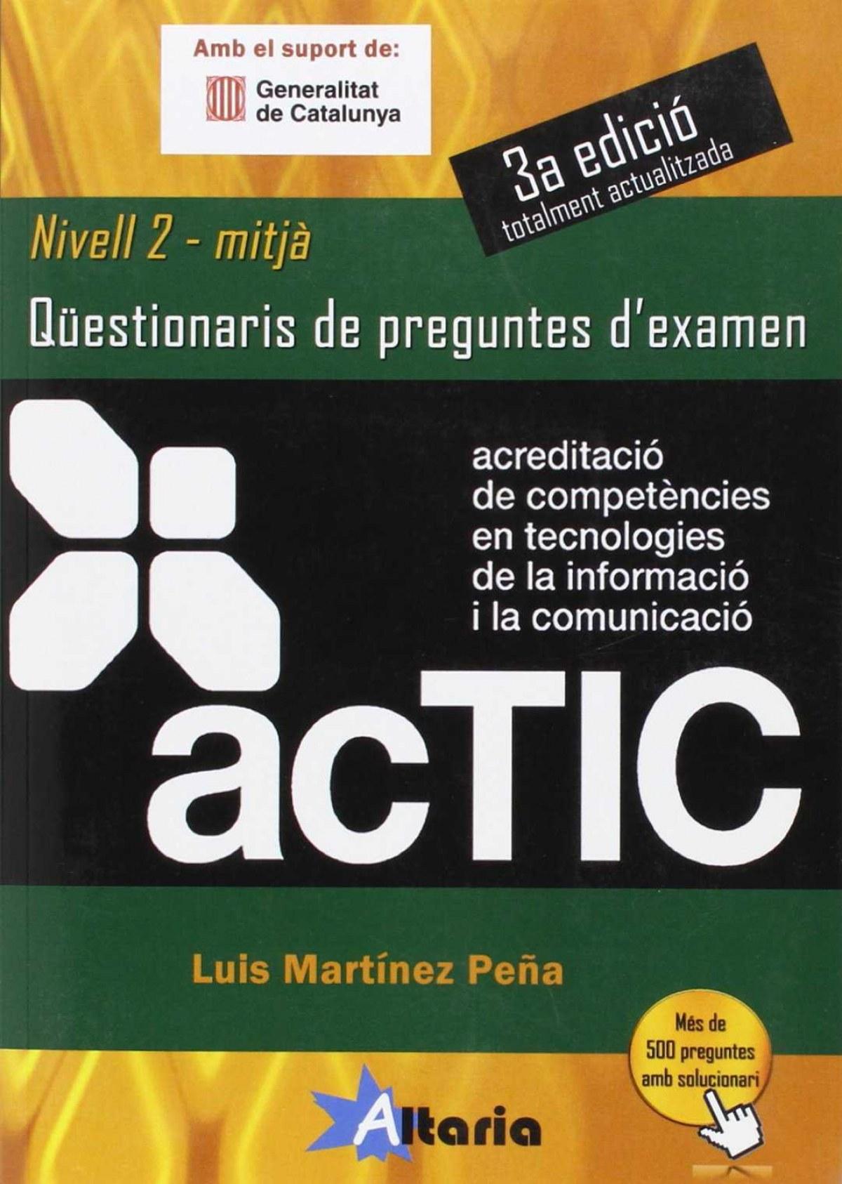 Questionari preguntes examen actic 2 9788494184550