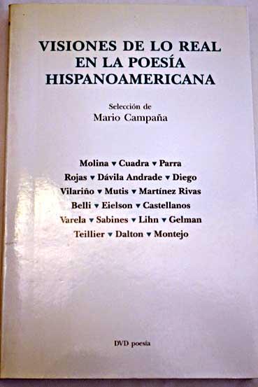 Visiones de lo real en la poesÍa hispanoamericana