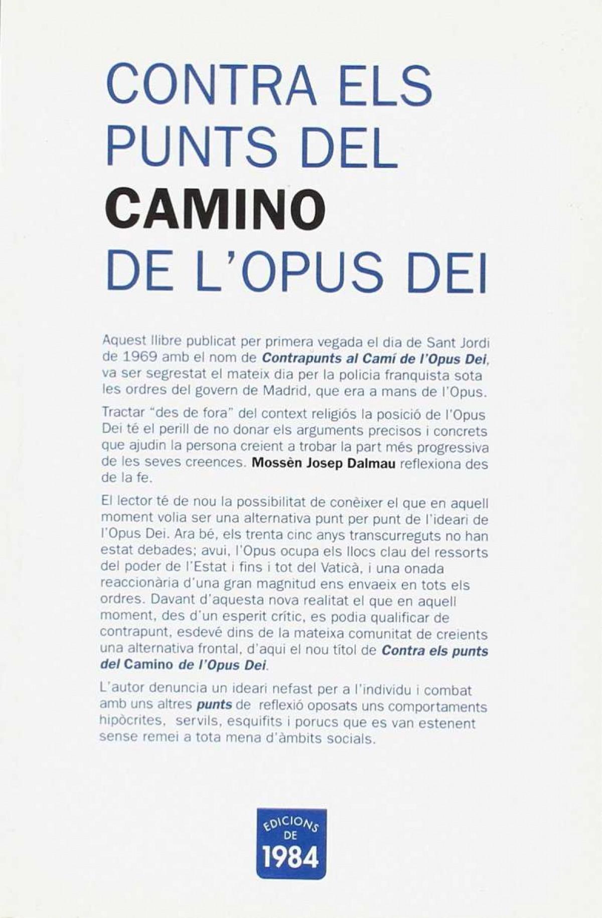 Contra els punts del camino de l'Opus Dei