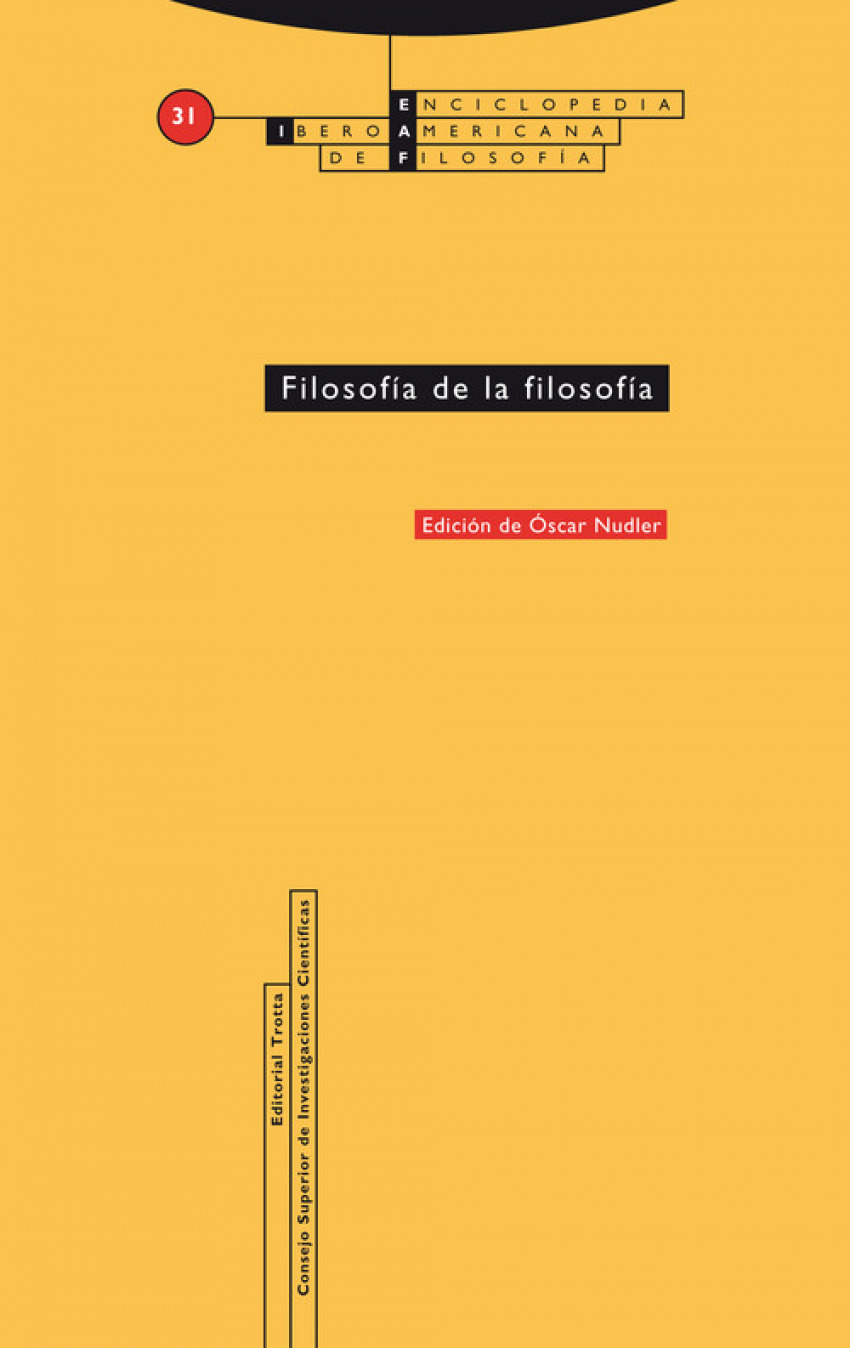 FILOSOFÍA DE LA FILOSOFÍA