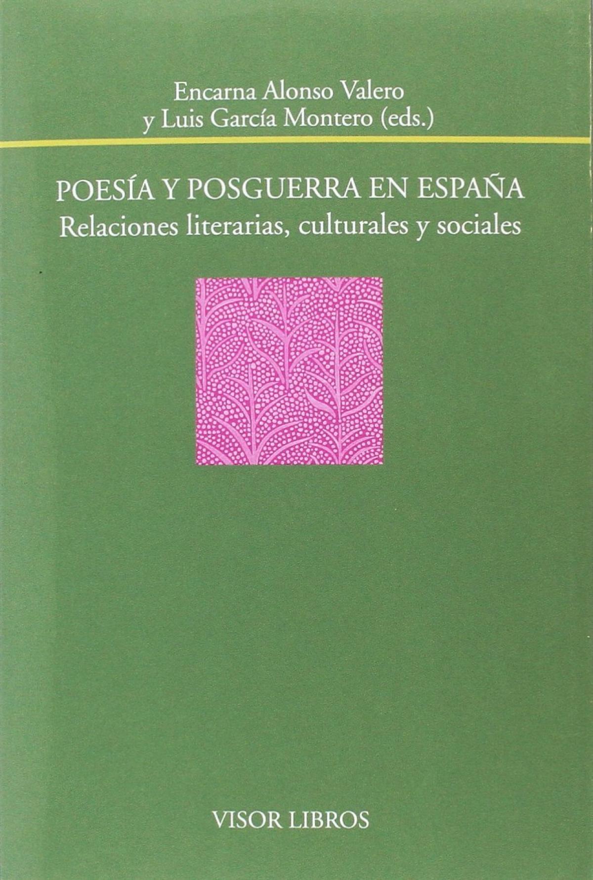 POESIA Y POSGUERRA EN ESPAÑA RELACIONES LITERARIAS, CULTURAL