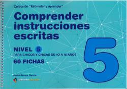 COMPRENDER INSTRUCCIONES ESCRITAS - NIVEL 5