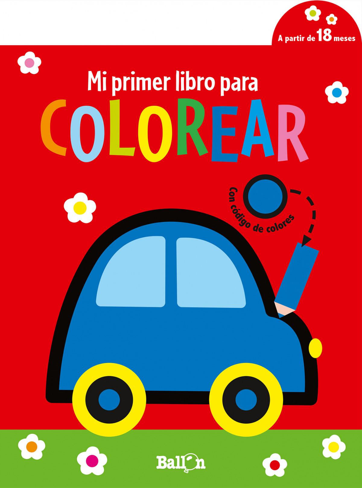 MI PRIMER LIBRO PARA COLOREAR- COCHE
