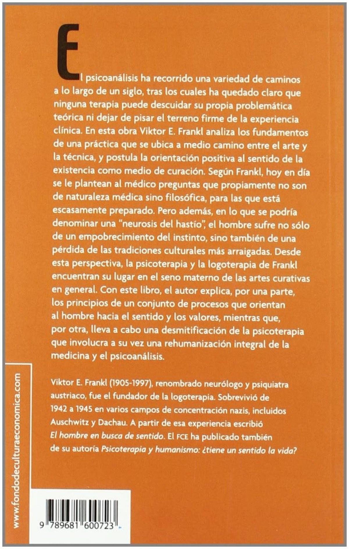 Psicoanálisis y existencialismo : de la psicoterapia a la logoterapia