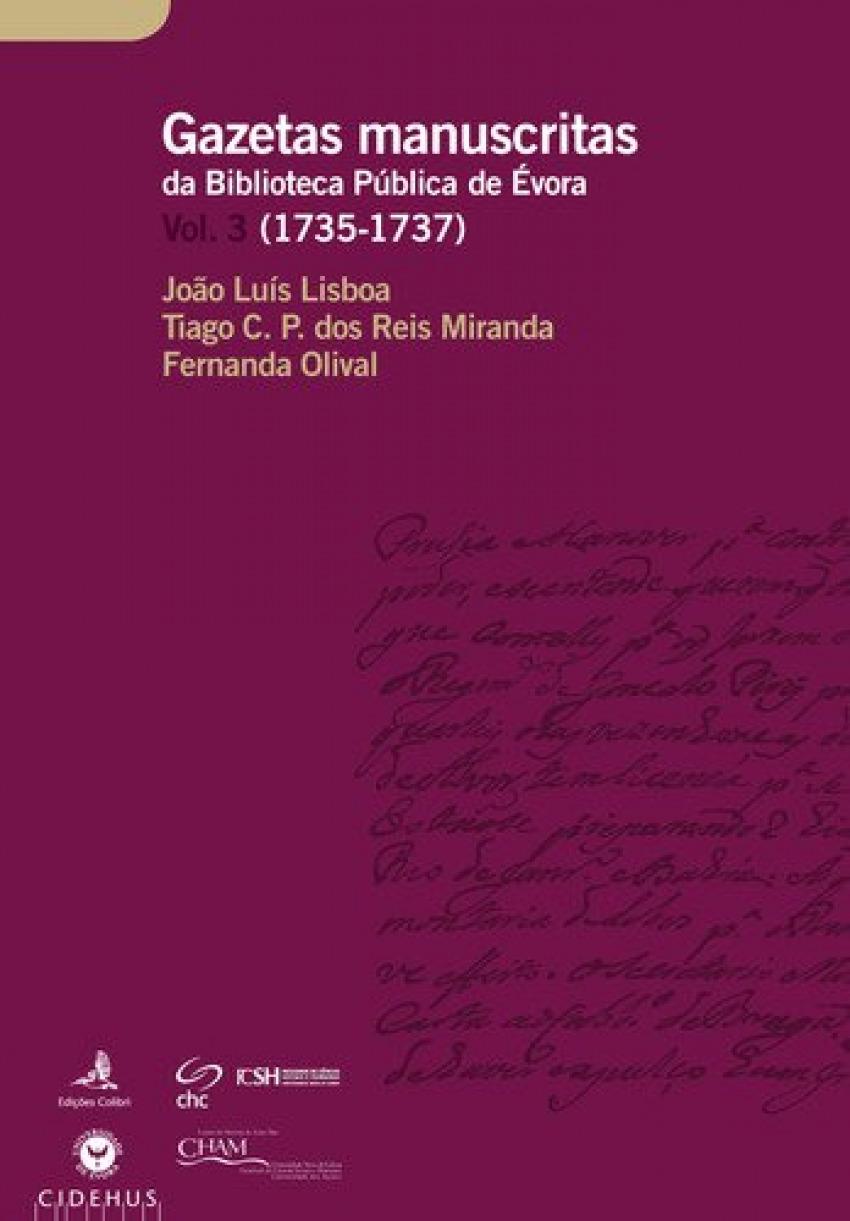 GAZETAS MANUSCRITAS DA BIBLIOTECA PÚBLICA DE ÉVORA. VOL. 3 (1729-1731)