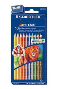 Estuche 10 lápices colores Jumbo triangulares Staedtler