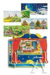 Teatro para marionetas de dedo 5 escenarios intercambiables