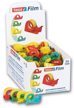 Expositor 100 mini portarrolos tesafilm standard 10mX15mm tesa