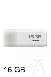 PENDRIVE 16GB USB 2.0 TOSHIBA HAYABUSA BLANCO