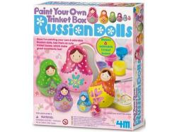 Russian dolls paint. Pinta tu caja para joyas de muñeca Rusa.