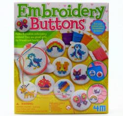 Embroidery buttons. Borda botones.