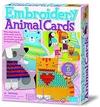 Enbroidery animal cards. Borda animales en tarjetas.