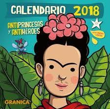 CALENDARIO 2018 ANTIPRINCESAS ANTIHEROES PARED