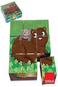 Puzzle 9 cubos animales bosque