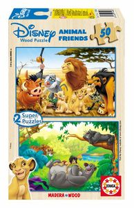 Animals friends 2 puzzles madera/50 piezas