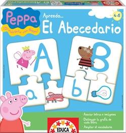 Peppa pig aprendo el abecedario