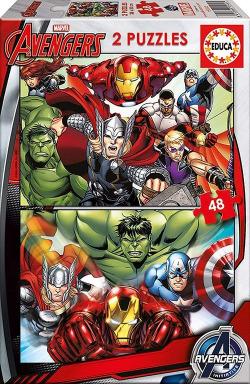 Marvel Avengers Assemble 2 puzzles 48 piezas