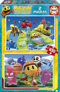 Pacman 2 puzzles/100 piezas