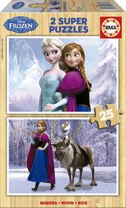 Frozen 2 puzzles madera/25 pzas