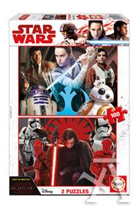 Star Wars 2 puzzles 100 piezas
