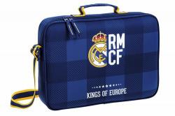 CARTERA EXTRAESCOLARES REAL MADRID BLUE 38X6X28CM