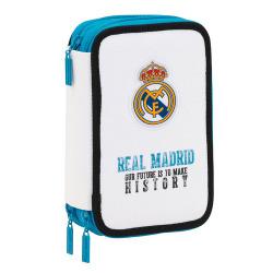 Plumier triple 41 piezas Real Madrid 12,5x20,5x6cm