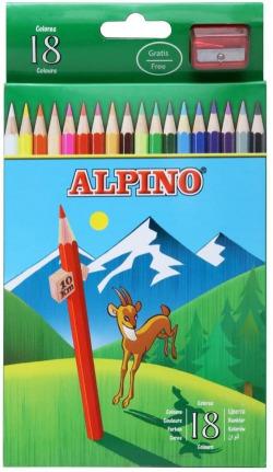 Estuche 18 lapices colores alpino surtidos