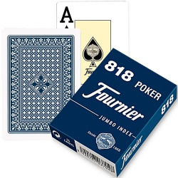 Baraja poker (55 naipes) nº818 estuche carton 2 indices gigantes