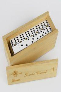 Domino chamelo celuloide caja madera