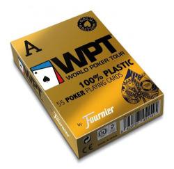 55 NAIPES PLASTICO POKER WPT GOLD EDITION CARTON 2 INDICE JUMBO