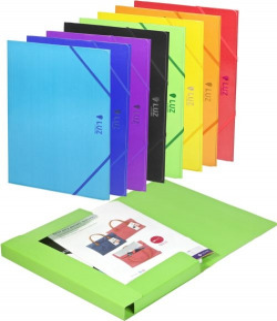 Exp 30 carpeta fº carton gomas 3 solapas colores surt luz