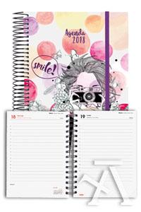 Agenda anual e10 2018 design collection smile dia pagina 117x181mm