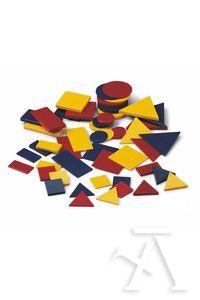 Bolsa bloques logicos de plastico 48 piezas faibo