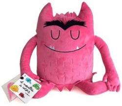 Peluche monstruo de colores rosa