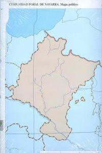 Paq/50 mapas navarra politico mudos
